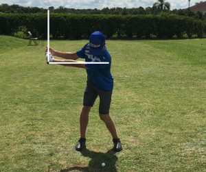 Back swing position