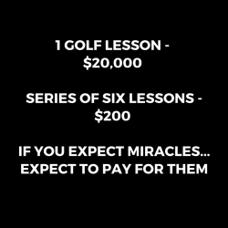 Golf Lesson Package Pricing